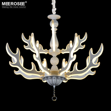цены Modern LED Pendant Lights Fixture Deer Horn LED Acrylic Lamp Hanging Suspension Home Light led light with various size available