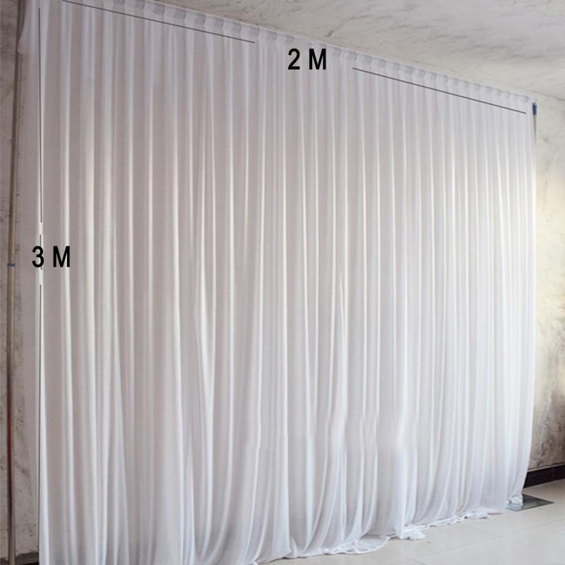 Ev ve Bahçe'ten Parti Arka Planları'de 2 M genişlik x 3 M yükseklik beyaz düğün backdrop fotoğraf parti perde olay dekorasyon için'da  Grup 1