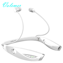 Volemer Stereo Sport Bluetooth Headset Auriculares Wireless Headphone Handfree Luminous For iPhone 7 xiaomi bluetooth earphone