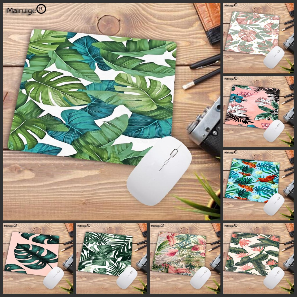 Mairuige Big Promotion Banana Tree Green Leaves Large Mouse Pad Anime PC Computer Mat Natural Rubber Gaming Mousepad Desk Mat