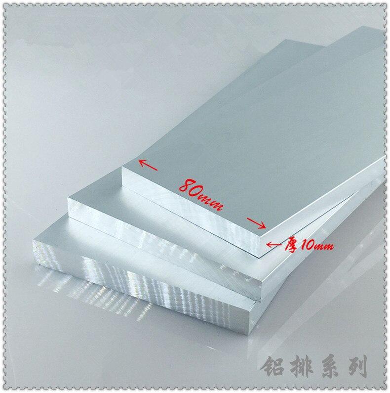 Aluminium Alloy Plate 10mmx80mm Article Aluminum 6063-T5 Oxidation Width 80mm Thickness 10mm Length 200mm 1pcs