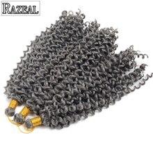 4 пакеты вьющиеся крючком Наращивание волос чешские крючком косы афро синтетических плетение волос 14 дюймов 100 г высокое Температура