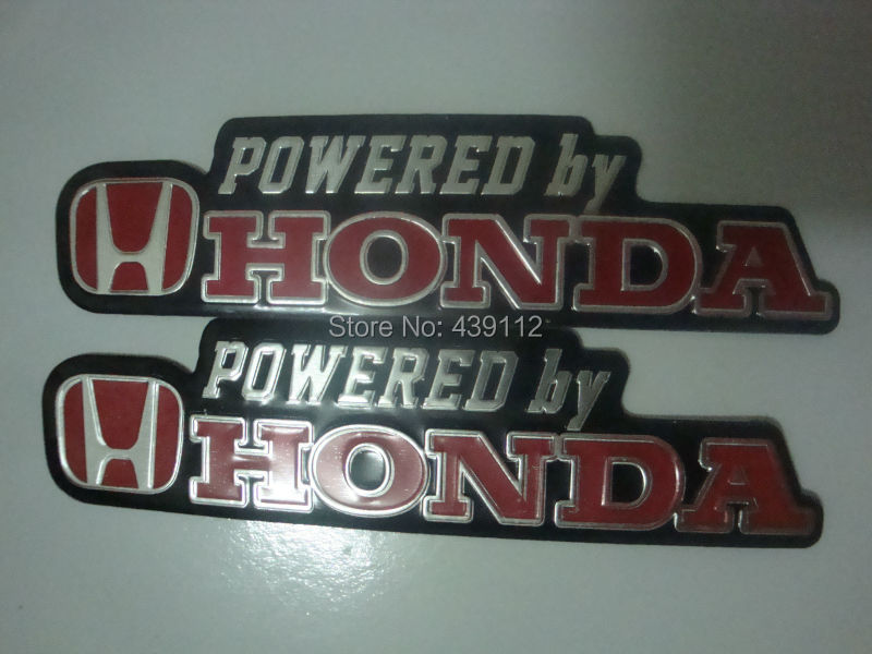 Free Shipping 2pcs/lot  For HONDA  Motorcycle Decorative Aluminum Three-dimensional Metal Car Stickers Decals