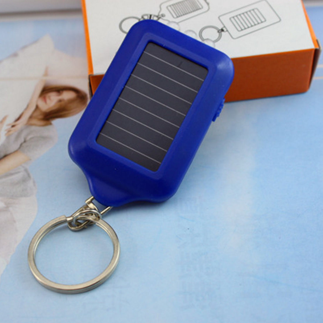 New 3 LEDs Solar Panel Sun Power Energy Torch Camping Light Portable Key Chain Hiking Rechargeable Spotlight Lamp