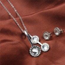 XUANHUA Sada šperků z nerezové oceli Bižuterie indická svatební móda pro ženy 2018 drahokam náhrdelník náušnice Set Schmuck