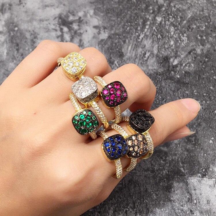 ZOZIRI marque ensemble de bijoux de mariage cz pierres bonbons bracelet/bracelets/collier/pendentif boucles d'oreilles bijoux carrés bonbons