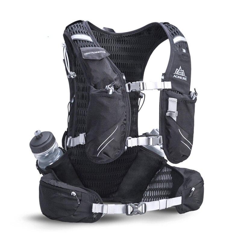AONIJIE 15L Сумка для бега на открытом воздухе марафон светоотражающий походный велосипедный рюкзак гидратационный жилет пакет с 2*600 мл бутылки - 3