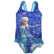 Hot Sale! Print Baby Girls Swimwear One Piece Swimsuit Kids Clothing Suit For Children TZ6002