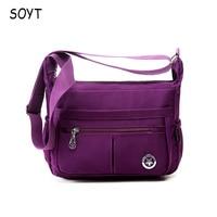 SOYT Brand 2017 Fashion Women Shoulder Bags High Quality Bag Popular Vintage Crossbody Waterproof Nylon Messenger