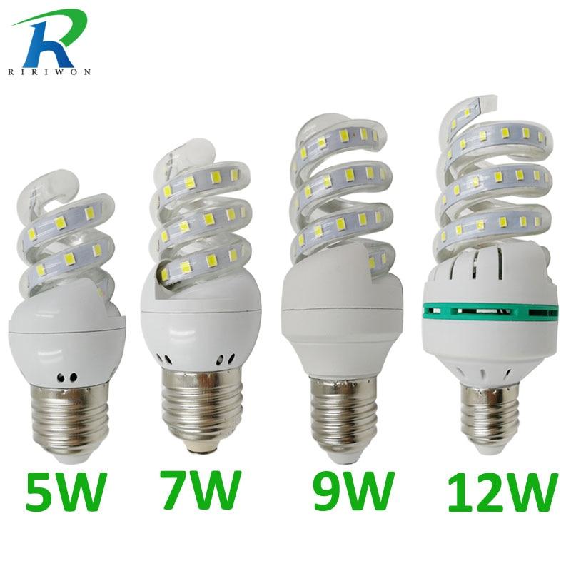 RiRi won E27 LED light Bulb Lamps E27 220V Light Bulb Smart IC Real Power Brightness Lampada LED Bombilla for home decoration