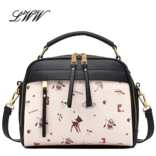 NEW Fashion Cartoon Bag Shoulder Bag Women PU Leather Handbag Printing Handbag Lady crossbody bag