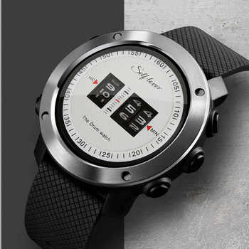 2019 Fashion New Design Mens Sport Watch Drum Roll Watch Stunning Unique Rolling Time Rubber Silicone Strap Mens Clock relogio - DISCOUNT ITEM  29% OFF All Category