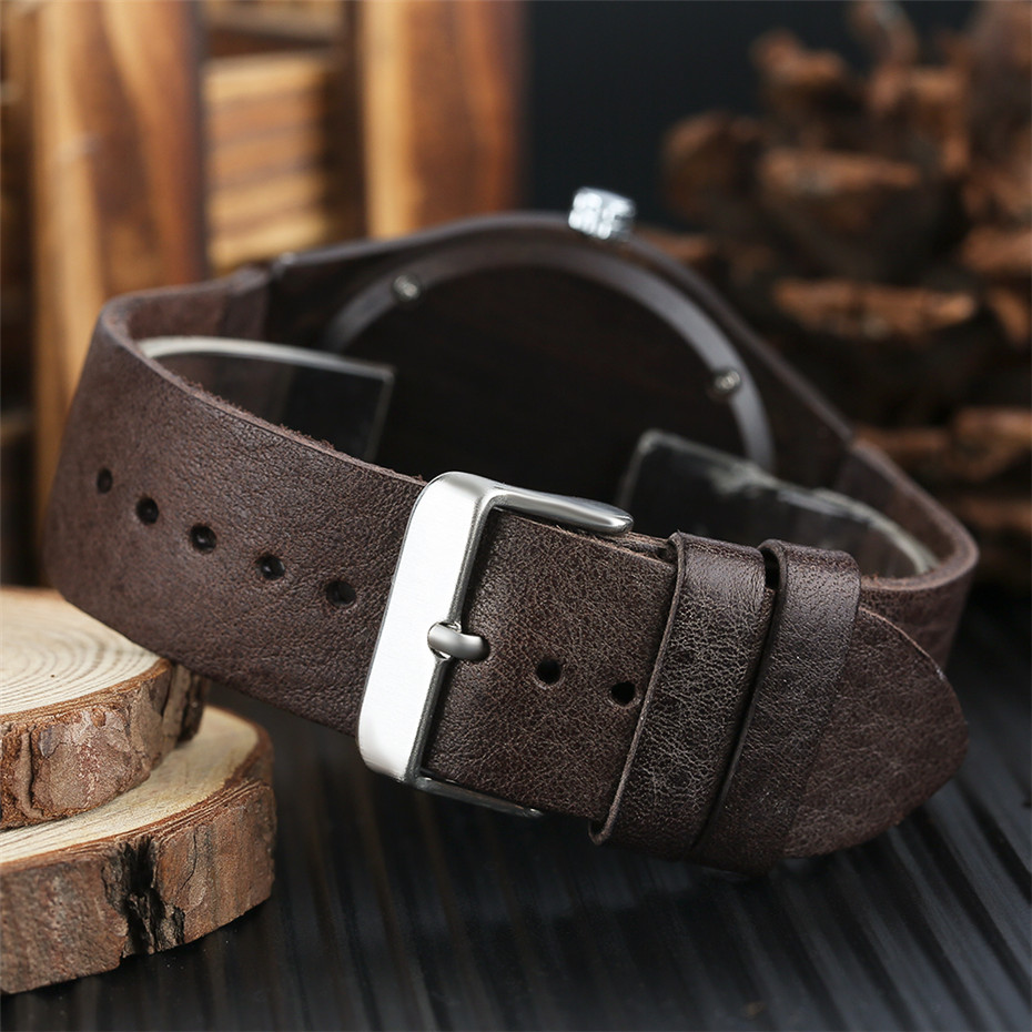 coffee color wood watch casual men10