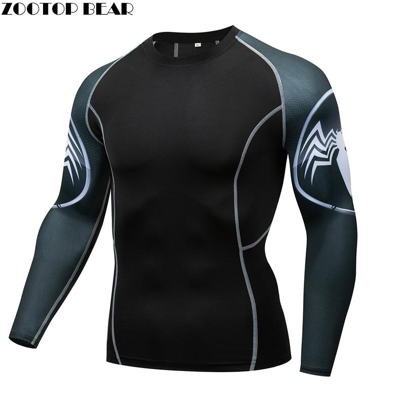 Spiderman MMA Compression shirts Men Rash guard Fitness T shirts Elastic Base Layer Skin Tight Weight Lifting Crossfit Tops Tees