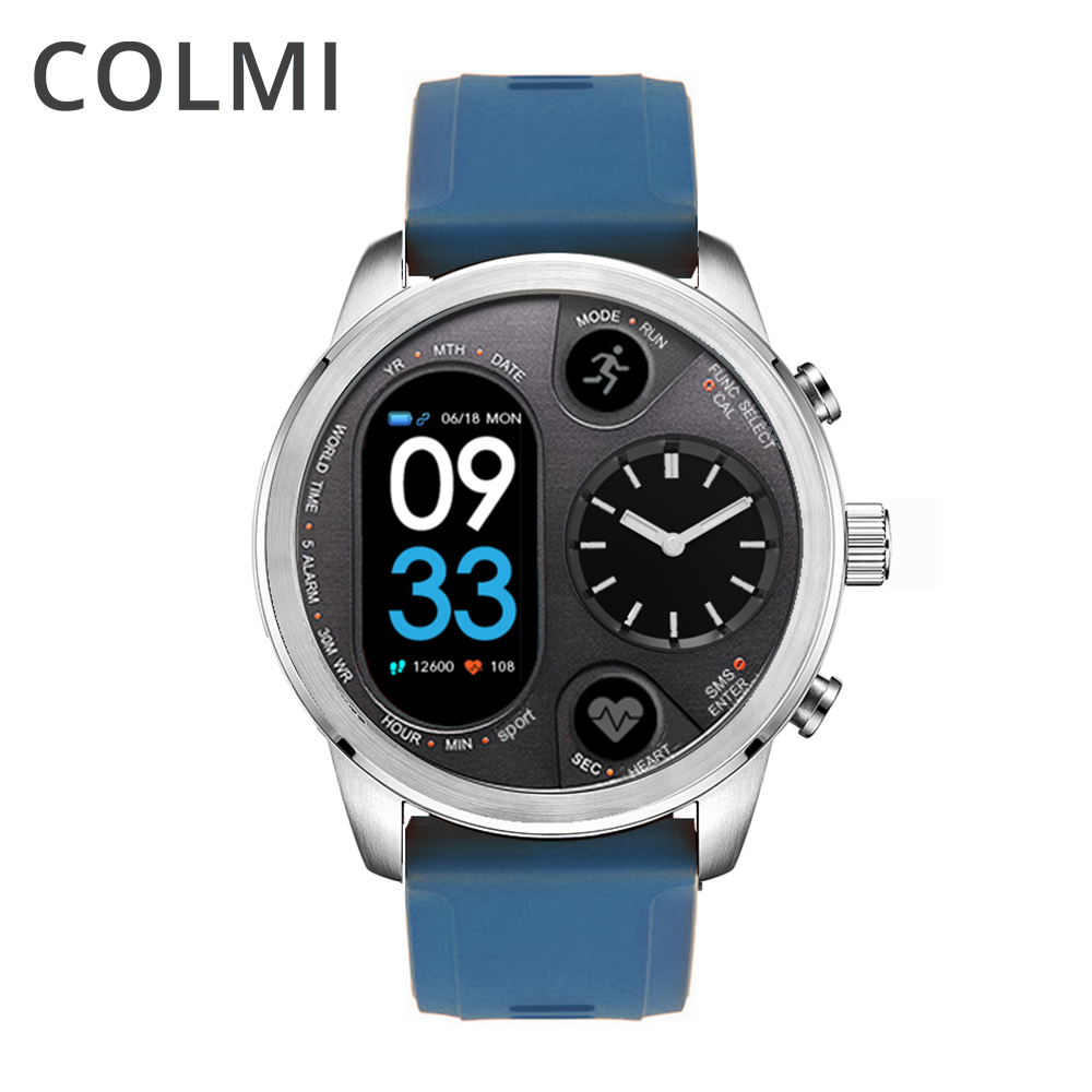 COLMI T3 híbridos del deporte Smart watch Acero inoxidable Fitness Activity Tracker IP68 impermeable espera 15 días ala Smartwatch