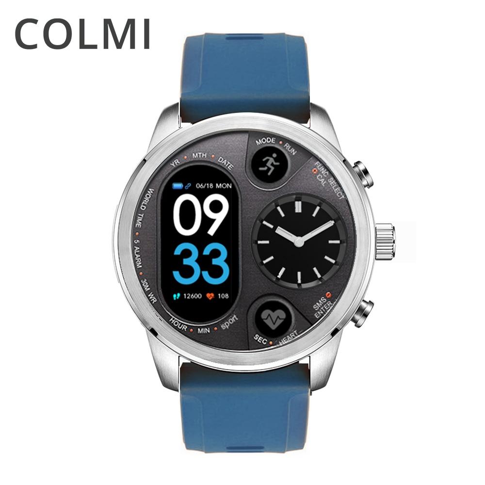 COLMI T3 Híbrido Esporte relógio Inteligente Atividade de Fitness Rastreador IP68 15 Dias de Espera À Prova D' Água de Aço Inoxidável BORDA Smartwatch