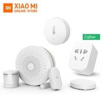 100% Original Xiao mi Smart Home Kits Gateway Tür Fenster Sensor Menschlichen Körper Sensor Drahtlose Schalter Hu mi dity Zigbee buchse mi APP-in Smarte Fernbedienung aus Verbraucherelektronik bei