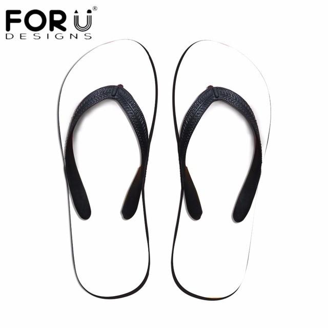 0accb1270 FORUDESIGNS Men Summer Flip Flops Custom Your Image or Logo Flat Non-slip  Beach Casual Slippers Boys Outside Home Sandals Shoe
