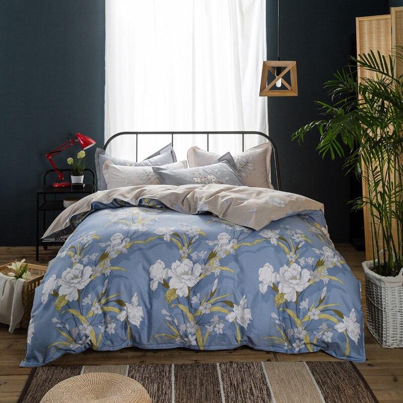 Fresh 100 Cotton Bedding Sets Queen Full Size Girl Flower Bed Linen 3d