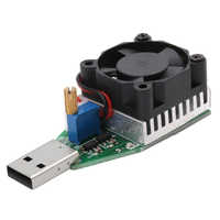 DC 3.7~13V USB 15W Adjustable Constant Current Electronic Load Discharger 1pc