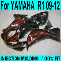 Free shipping fairings For YAMAHA R1 2009 2010 2011 2012 2013 Fairings ( red flame ) yzfr1 Injection Fairing kit XP58