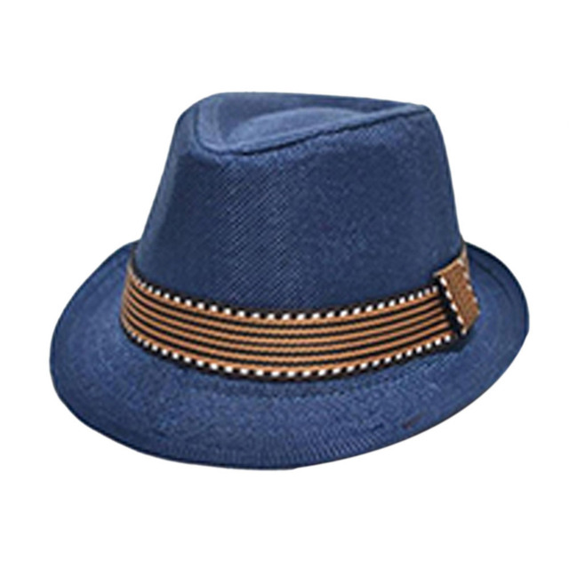dea98c6f522 Fashion Kids Baby Fedora Hats Jazz Cool Toddler Boy Girl Cap Photography Top  Hat Cotton Trilby