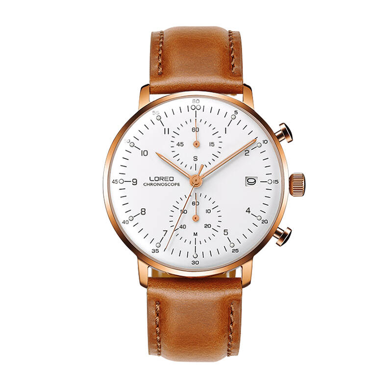LOREO 6112 Germany Bauhaus watches Hot sell fashion mens watches leather watch waterproof chronograph scratch resistant loreo 6112 germany bauhaus watches newest 316l stainless steel chronograph fashion elegant quartz watch