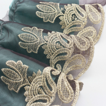 17cm Wide Embroidery Chiffon Gauze Fine Lace Fabric Clothing Curtains Decorative Side Mesh Sofa Cover DIY Skirt Accessories