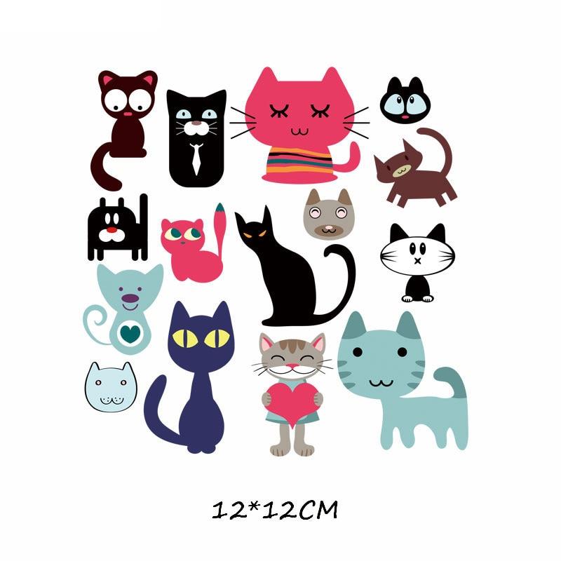 Набор патчей с изображением животных из мультфильмов, милые патчи с изображением единорога, кошки, совы, собаки, цветов для детей, одежда для девочек, футболка, сделай сам, термопресс - Цвет: 560