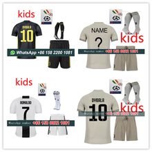 b00b3a574a1 juventuses kids kit 2018 2019+sock + all patches boy soccer jersey dybala  ronaldo football shirt free shipping