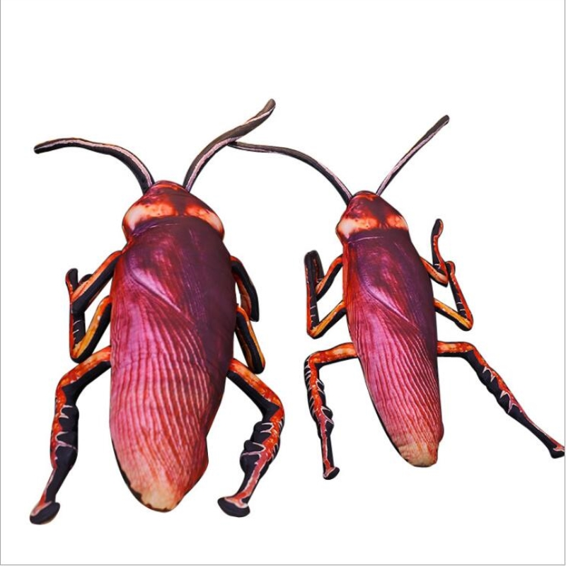 1pc 55cm 75cm Simulation Cockroach Plush Toy Stuffed Funny Insect Toy Doll for Kids Creative Soft