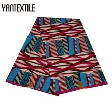 YANTEXTILE African Fashion Purple Color Ankara Wax Print Fabric 6 Yards Polyester Guaranteed Block Prints Real