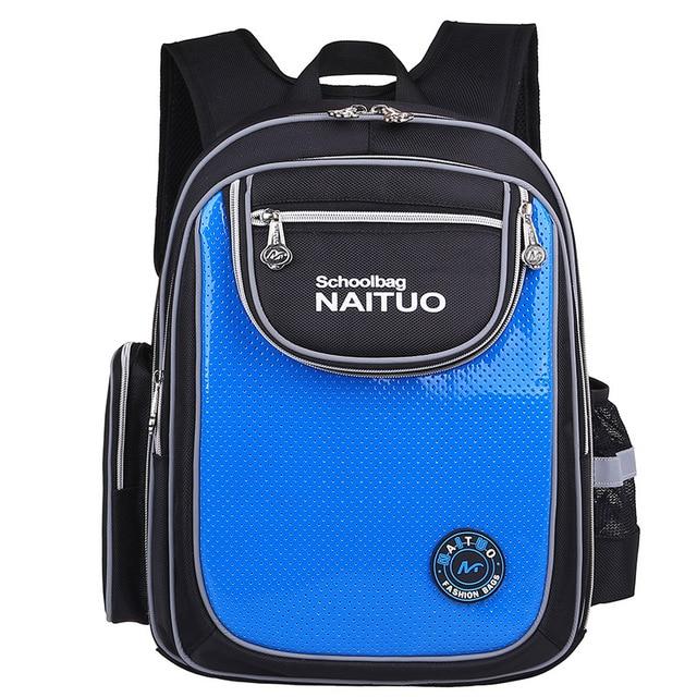 2016 Orthopedic Boys School Bags Children Backpack Primary Bookbag Girls Schoolbags Kids Mochila Infantil Reflective Safety Bags