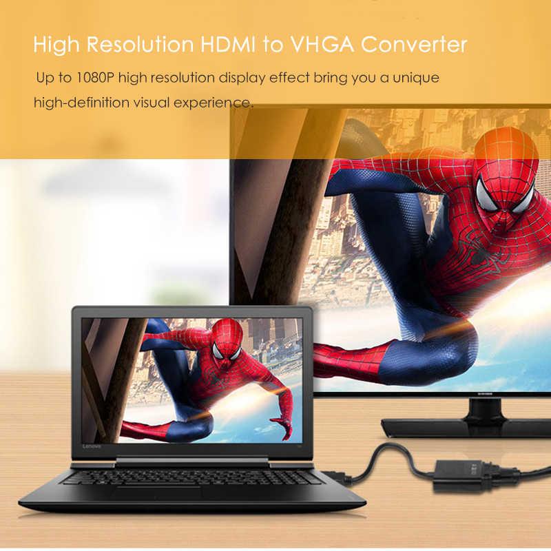 EECPT adapter hdmi do vga konwerter sygnału cyfrowego na analogowy wideo Audio 1080P adapter do PS4 tv, pudełko laptopa, aby na ekranie komputera projektor telewizyjny