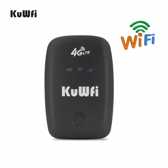 Kuwfi ロック解除 4 4g lte 無線 lan ルーター携帯ポータブル 3 グラム/4 グラム無線 lan ルータと sim カードスロットサポート lte fdd B1/B3/B5