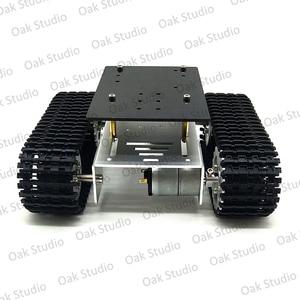 Image 3 - מיני T10 חכם טנק רכב שלדת במעקב קטרפילר Crawler רובוט פלטפורמת לdiy Arduino
