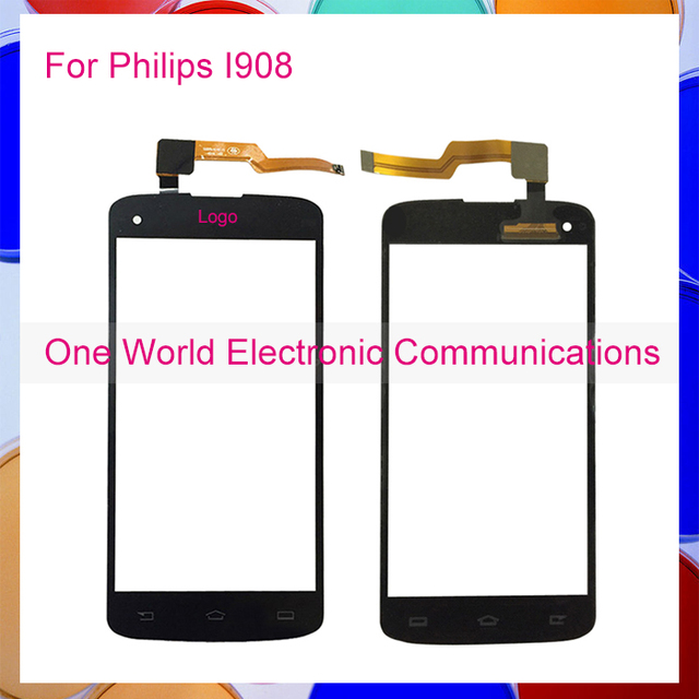 10pcs/lot Touchscreen For Philips I908 Touch Screen Touch Panel Glass Sensor Digitizer Replacement Tracking Code + Free Shipping