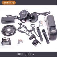 8fun Bafang 48V 1000W C965 C961 BBS02 Mid Crank Drive Motor Ebike Kit 48V 11 6Ah