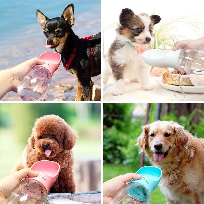 Petsoign/é Bottiglia Acqua Cane Portatile Bottiglia da Viaggio per Cani in Silicone per Esterno Nero