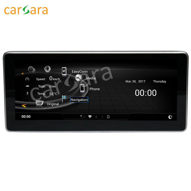 Carsara Android display für Audi Q5 2009 zu 2017 10,25 zoll touch screen GPS-Navigation radio stereo dash multimedia player