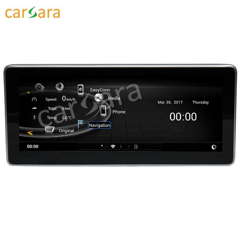 Carsara exibição Android para Audi Q5 2009 a 2017 10.25 polegada tela sensível ao toque de Navegação GPS traço estéreo rádio leitor multimédia