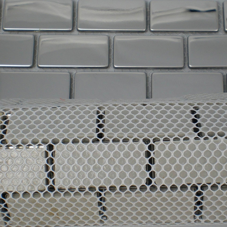 20x40mm Silver Stainless Steel Metal Mosaic Tiles For Kitchen