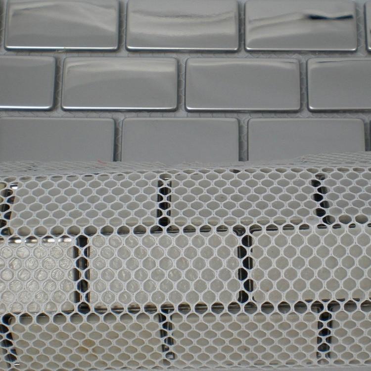 20x40mm Zilver Rvs Metalen Mozaïektegels Voor Keuken Backsplash Tegels Veranda Slaapkamer Woonkamer