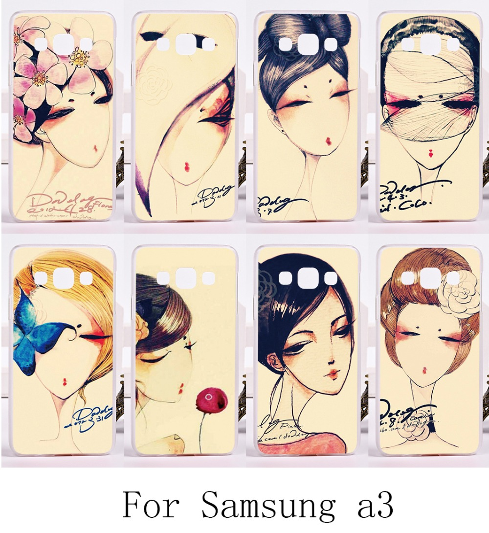 Hard Plastic and Soft TPU Cover For Samsung Galaxy A3 2014 A3000 A300F Cases Shell Retro