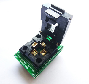 Image 2 - TQFP44 a DIP44 LQFP44 a DIP44 adaptador de enchufe programador QFP44 IC CHIP quema asiento (pin1 a Pin1) Paso de 0,8mm