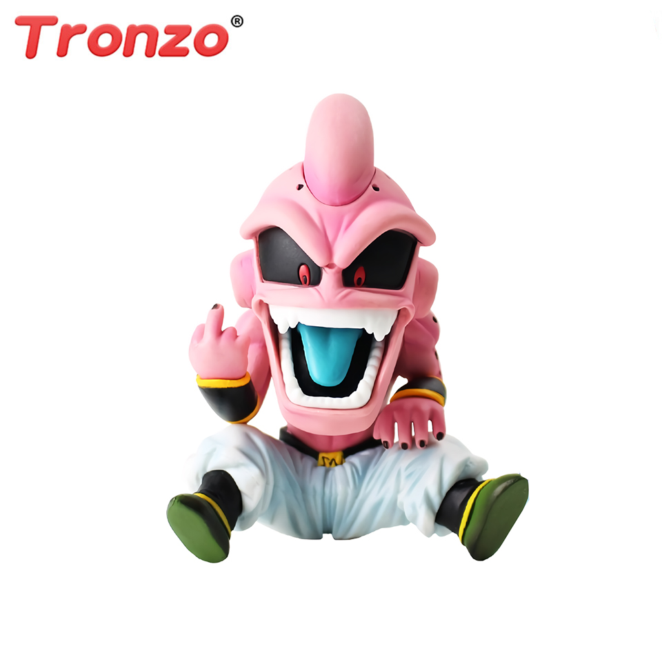 Tronzo Anime Dragon Ball GK Figure Majin Buu PVC Action Figure Model Toys DBZ Buu Q Version Collection Cartoon Decor Doll ModelsTronzo Anime Dragon Ball GK Figure Majin Buu PVC Action Figure Model Toys DBZ Buu Q Version Collection Cartoon Decor Doll Models