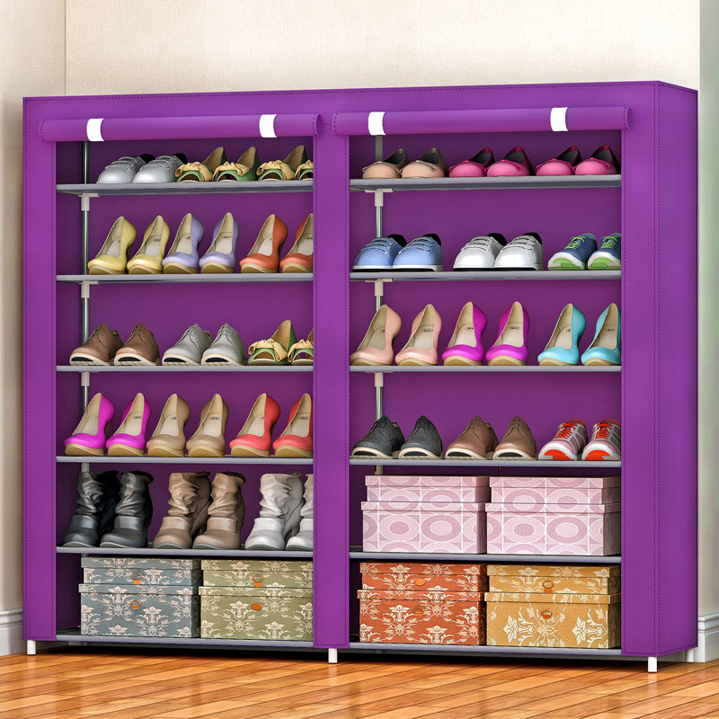 Non-woven fabrics large shoe rack organizer removable shoe storage for home furniture shoe cabinet 5pcs collapsible non woven fabrics material folding flat storage organizer for car