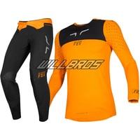 2019 NAUGHTY FOX Motocross 2019 Flexair Royl Jersey Pant Mx Off road Orange Men's Gear Set