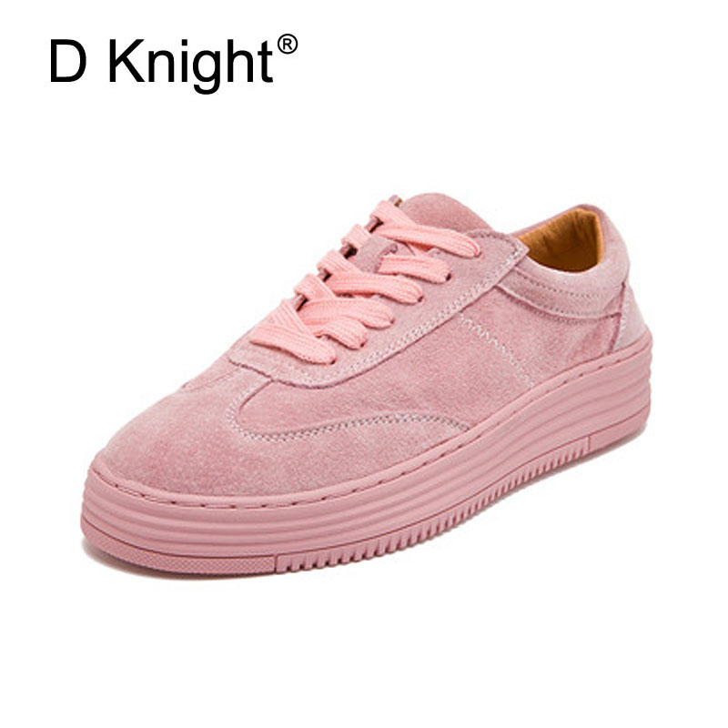 New Women Genuine Leather Platform Casual Flat Shoes Fashion Round Toe Lace Up Women Cow Leather Sneakers Ladies Leisure Shoes brand new spring shoes woman genuine leather fashion lace up women flat shoes casual platform shoes women