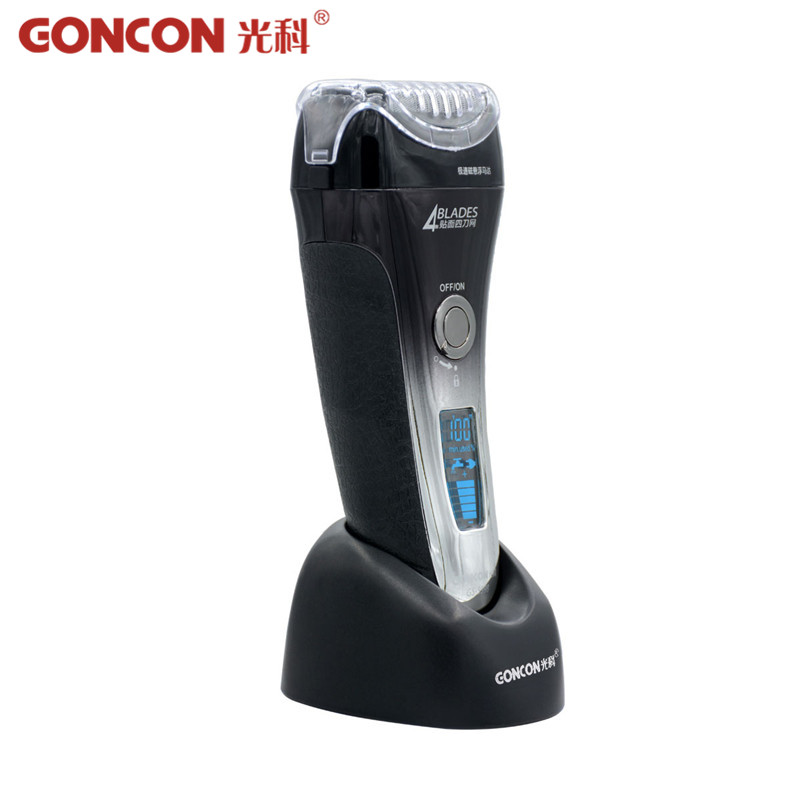 4 Blades Electric Shaver Quick Charge Washable Reciprocating Rechargeable Razor Beard Trimmer Face Shaving For Men LCD Display kemei men s electric shaver cordless rechargeable reciprocating razor wet and dry use beard trimmer men s face care tool km 2016